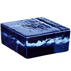 Стеклянный кирпич Vetropieno Blu половинка
