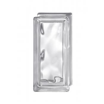 Стеклоблок Испания осветленное стекло Opti White половинка волна