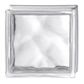 Стеклоблок Испания осветленное стекло Opti White волна